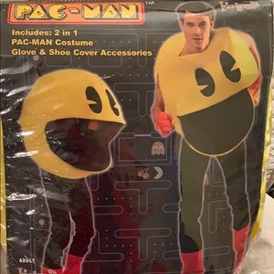 Pac-Man costume w/accessories-new in pkg. one size
